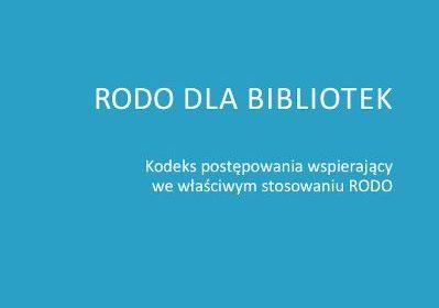 RODO dla bibliotek